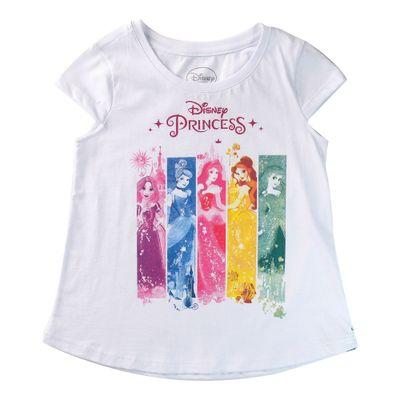 Camiseta-Manga-Curta---Princesas-Disney---100--Algodao---Branco---Disney---4