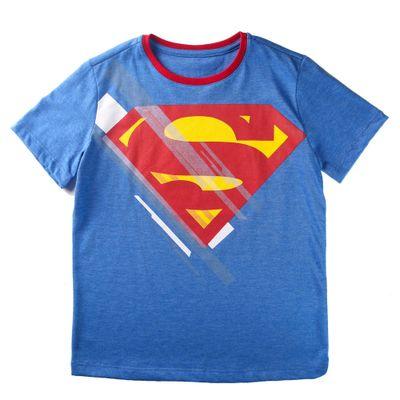 Camiseta-Manga-Curta---Superman---Algodao-e-Poliester---Azul---DC-Comics---6