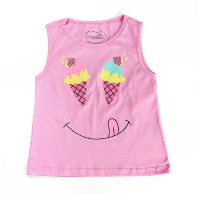 Camiseta-Regata---Sorvete-Smile---100--Algodao---Pink---Minimi---1