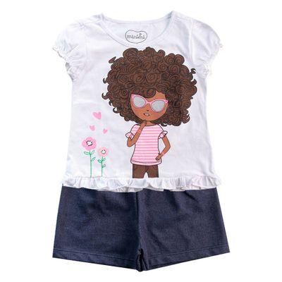 Conjunto-Infantil---Camisa-Estampada-e-Short---100--Algodao---Branco-e-Marinho---Minimi---1