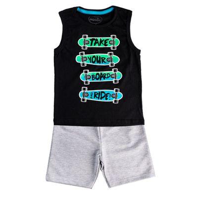 Conjunto-Infantil---Regata-Skate-e-Bermuda---100--Algodao---Preto-e-Cinza---Minimi---1