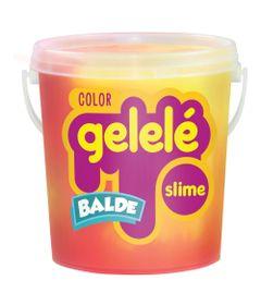 Balde-de-Slime---457-Gr---Gelele-Color---Amarelo-e-Pink---Doce-Brinquedo