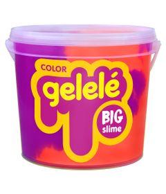 Balde-de-Slime---15-Kg---Gelele-Color---Roxo-e-Laranja---Doce-Brinquedo