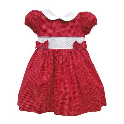 Vestido-Infantil-Manga-Curta---Casinha-de-Abelha---100--Algodao---Vermelho---Turma-Mixirica---1