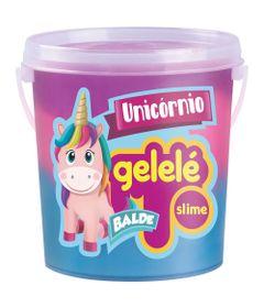Balde-de-Slime---457-Gr---Gelele-Unicornio---3-Cores---Azul-Pink-e-Roxo---Doce-Brinquedo