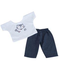 roupa-para-bonecas-conjunto-azul-e-branco-gato-tam.-p-laco-de-fita-6011_Frente