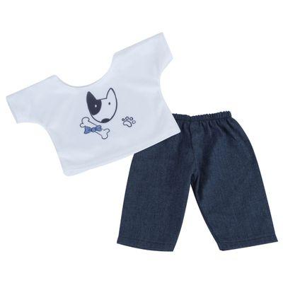 roupa-para-bonecas-conjunto-azul-e-branco-cachorro-tam.-gg-laco-de-fita-6014_Frente