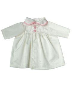 Roupa-para-Bonecas---Vestido-Branco-Veludo---Tam.-M---Laco-de-Fita_Frente