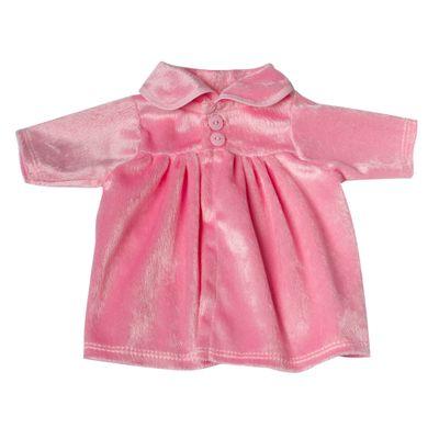Roupa-para-Bonecas---Vestido-Rosa-Veludo---Tam.-M---Laco-de-Fita_Frente