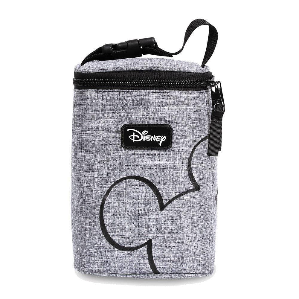 Porta Mamadeiras Térmico - 4 Compartimentos - Baby Bag - Disney - Cinza - BabyGo