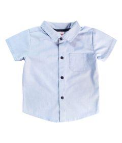 Camisa-Infantil---Manga-Curta---Algodao-e-Poliester---Chambrey---Azul---Minimi---1