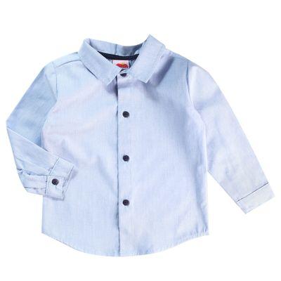 Camisa-Infantil---Manga-Longa---Algodao-e-Poliester---Chambrey---Azul---Minimi---1