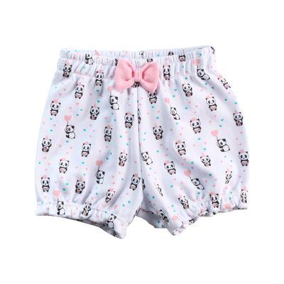 Short-Infantil---Estampa-Pandinha---Algodao-e-Poliester---Branco---Minimi---P