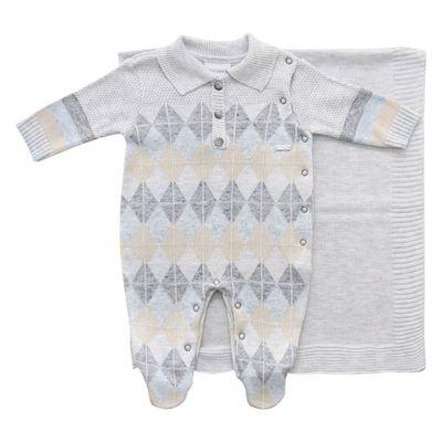 conjunto-infantil-kit-maternidade-jacquard-losango-malha-cinza-mescla-claro-noruega-rn-11.596_Frente