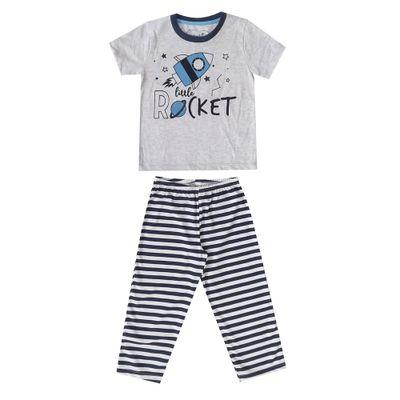 pijama-infantil-camisa-manga-curta-e-calca-rocket-algodao-e-poliester-mescla-e-listrado-marinho-minimi-1-41290001_Frente