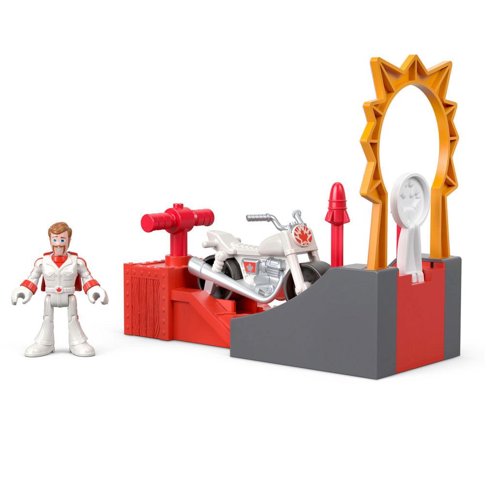 Figura Básica - Imaginext - Toy Story 4 - Duke Caboom - Manobra em Ação - Mattel