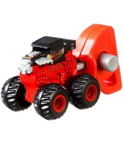 Lancador-e-Mini-Veiculo---Hot-Wheels---Monster-Trucks---Bone-Shaker---Mattel