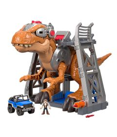 Playset-41-Cm-e-Mini-Figuras---Imaginext---Jurassic-Rex---Fisher-Price