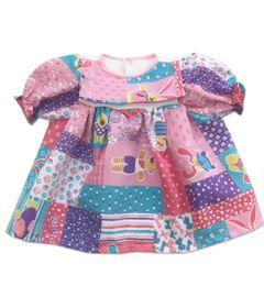 roupa-para-bonecas-vestido-rosa-e-branco-ursinhos-tam.-gg-laco-de-fita-6014_Frente