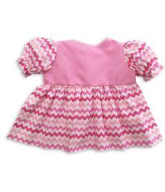 roupa-para-bonecas-vestido-rosa-com-listras-zig-zag-tam.-g-laco-de-fita-6013_Frente