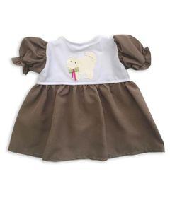 roupa-para-bonecas-vestido-cinza-escuro-gato-tam.-gg-laco-de-fita-6014_Frente