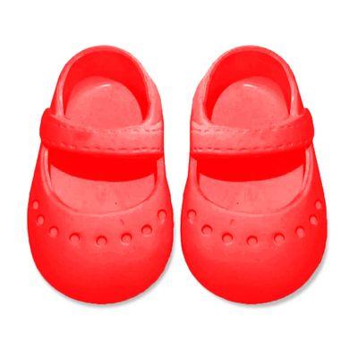 acessorios-para-boneca-sapatilha-colorida---tam-7--vermelho-laco-de-fita-04083_Frente