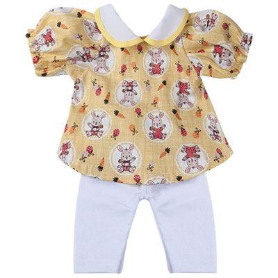 roupa-para-bonecas-conjunto-amarelo-e-branco-coelho-tam.-p-laco-de-fita-6011_Frente