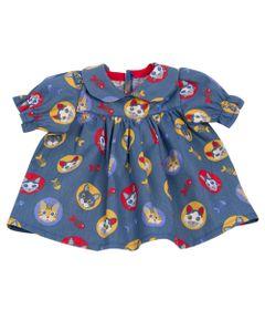 roupa-para-bonecas-vestido-azul-e-branco-gatinhos-tam.-g-laco-de-fita-6013_Frente