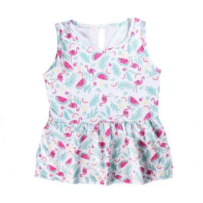 Camiseta-Regata---Melancia-e-Flamingos---100--Algodao---Branco-e-Rosa_Frente