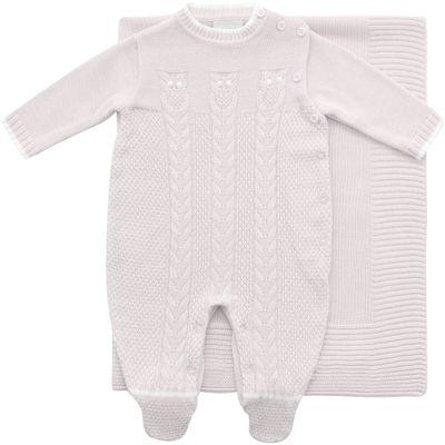 Conjunto-Infantil---Kit-Maternidade---Coruja---Malha---Rosa---Noruega_Frente