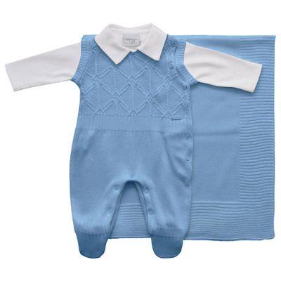 Conjunto-Infantil---Kit-Maternidade---Ponto-Aran---Malha---Azul---Noruega_Frente
