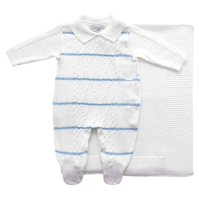 Conjunto-Infantil---Kit-Maternidade---Jacquard-Listrado---Malha---Branco-Listras-Azuis_Frente