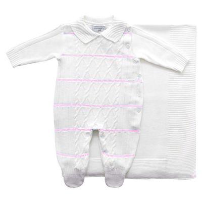 Conjunto-Infantil---Kit-Maternidade---Jacquard-Listrado---Malha---Branco-Listras-Rosa-Claro_Frente