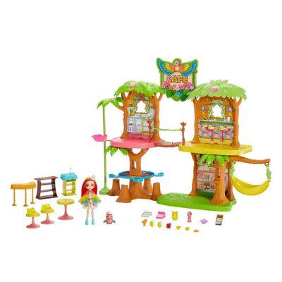 playset-e-boneca-enchantimals-cafe-na-selva-peek-parrot-e-sheeny-mattel-GJP17_Frente