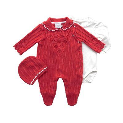 Macacao-Infantil---Ponto-Trabalhado---Malha---Vermelho---Noruega
