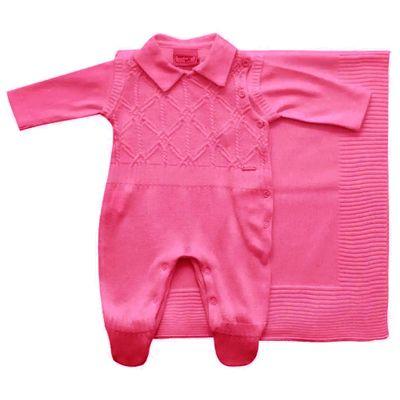 Conjunto-Infantil---Kit-Maternidade---Jacquard-Listrado---Malha---Vermelho