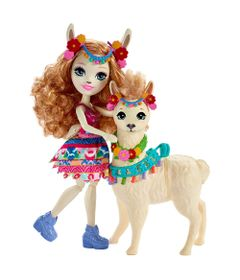 Boneca-Enchantimals---15-Cm---Lluella-Llama-e-Fleecy---Mattel