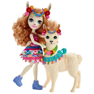 Boneca-Enchantimals---15-Cm---Lluella-Llama-e-Fleecy---Mattel