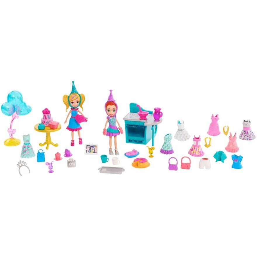 Bonecas-Polly-Pocket---Pacote-de-Festa---Lila-e-Polly---Mattel