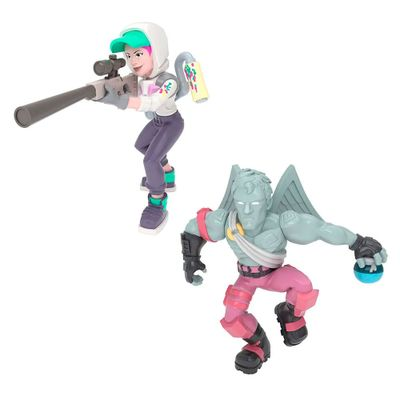 Mini-Figuras---15-Cm-com-Acessorios---Fortnite---Love-Ranger-e-Teknique---Fun