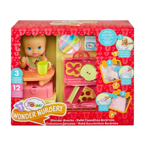 Boneca Bebê - Little Mommy - Lanchinhos Surpresa - Mattel