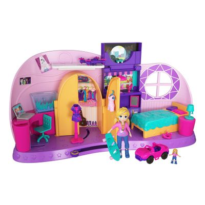 Playset e Mini Boneca Polly Pocket Quarto da Polly Mattel