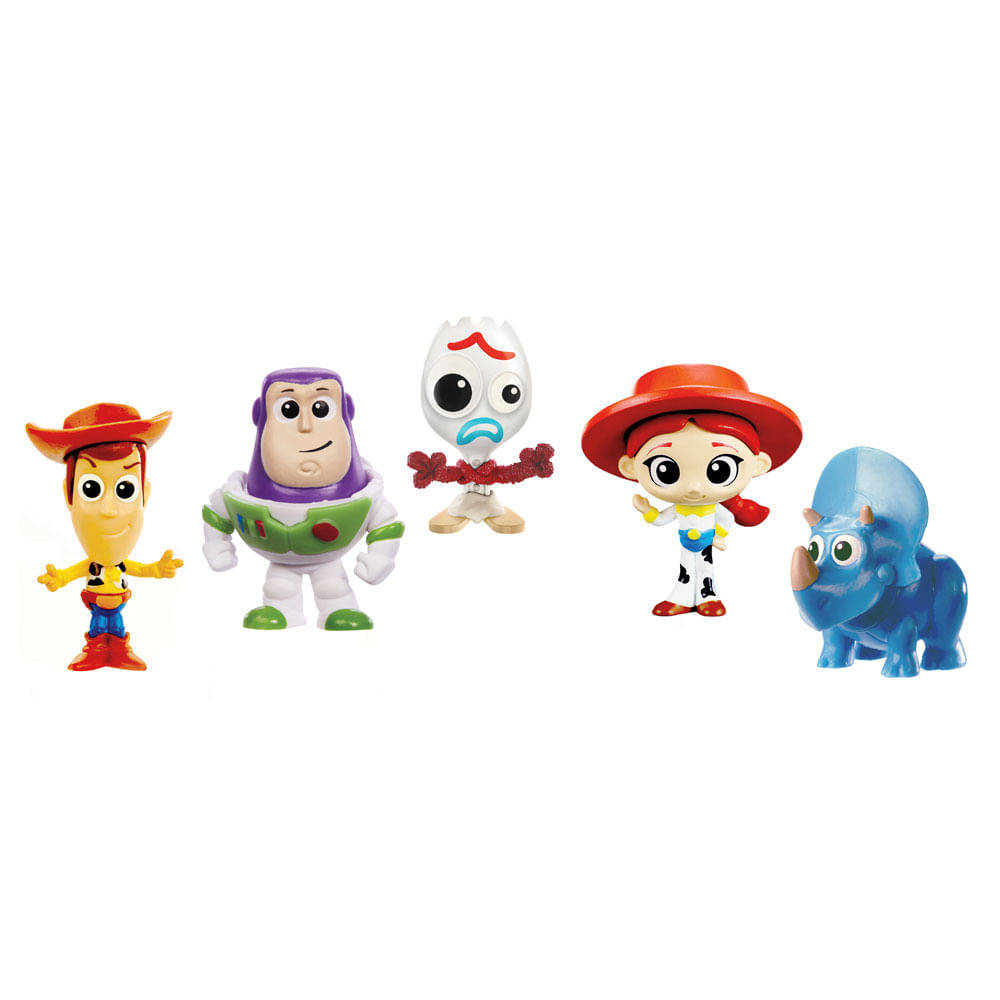 Conjunto de Mini Figuras - Disney - Toy Story 4 - 5 Personagens - Mattel