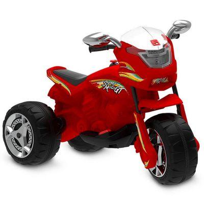 Triciclo-Eletrico---6V---Super-Moto-GT---Vermelha---Bandeirante