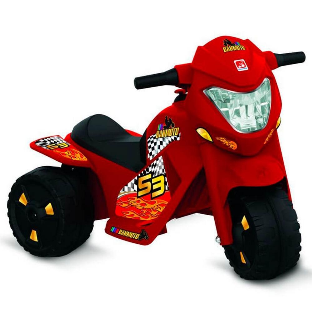 Triciclo Elétrico - 6V - Banmoto - Vermelha - Bandeirante