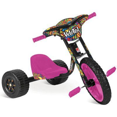 Triciclo-Velotrol---Rosa---Bandeirante
