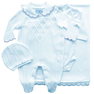 Conjunto-Infantil---Kit-Maternidade---Ponto-Trabalhado---Malha---Azul-Claro---Noruega