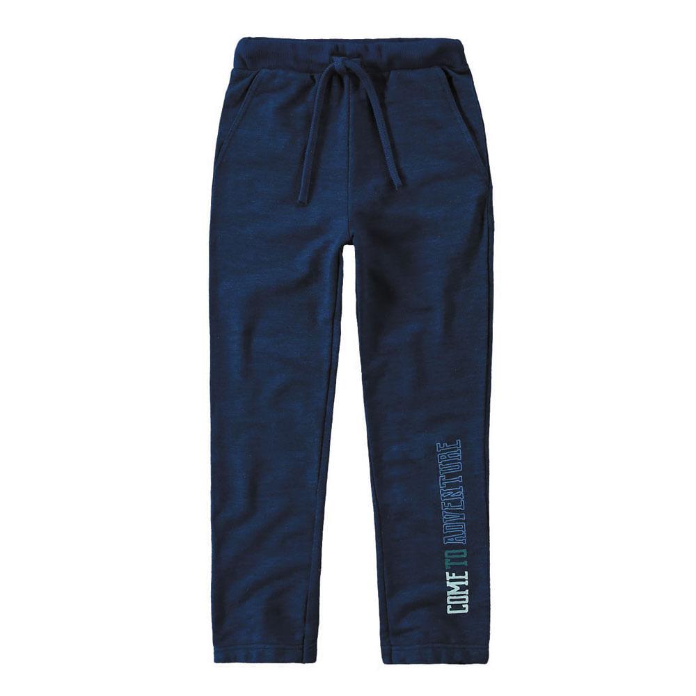 Calça Moletinho - Estampa Perna - Algodão e Poliéster - Azul - Malwee