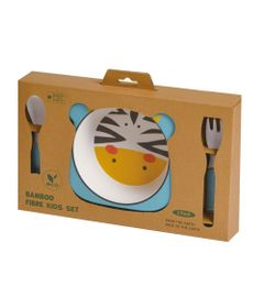 Conjunto-de-Alimentacao---Eco-friendly---Zebra---Girotondo-Baby