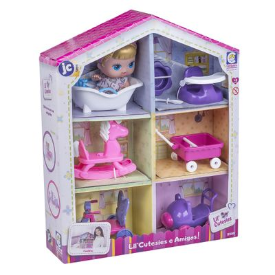 Mini-Boneca---18Cm---Lil--Cutesies---Casinha---Banheirinha-Branca---Cotiplas